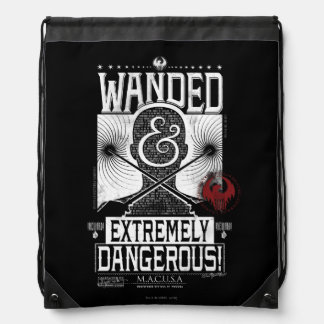 Wanded & Extremely Dangerous Wanted Poster - White Drawstring Bag