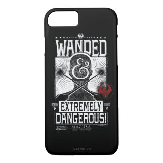 Wanded & Extremely Dangerous Wanted Poster - White iPhone 8/7 Case