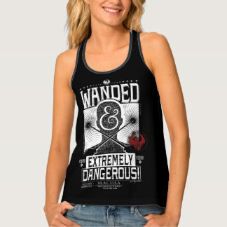 Wanded & Extremely Dangerous Wanted Poster - White Tank Top