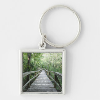 Wander Silver-Colored Square Key Ring