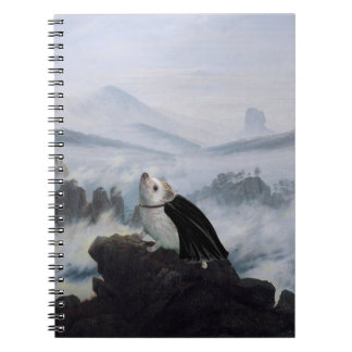 Wanderer above a Sea of Hog Spiral Note Book