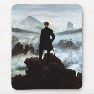 Wanderer above the Sea of Fog by Friedrich Mouse Mat