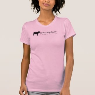 Wandering Donkey Logo Ladies Pink Racer Back Top L