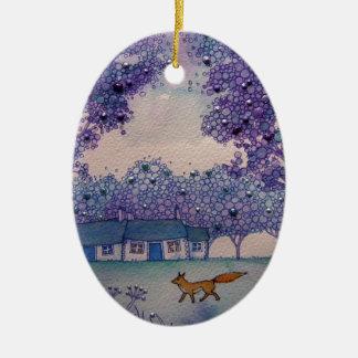 Wandering Fox Christmas Ornament