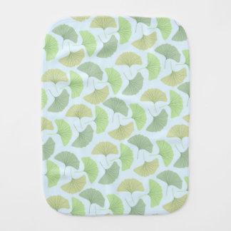 Wandering Green Ginkgo Fleece Blanket Burp Cloth