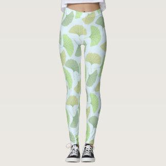 Wandering Green Ginkgo Leggings