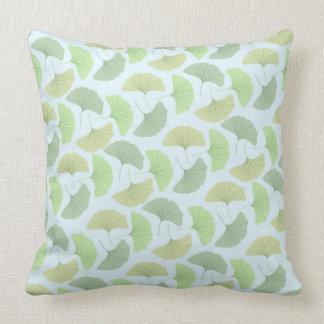 Wandering Green Ginkgo Pillow