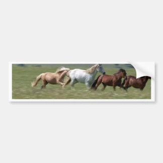 Wandering herd of American MUSTANG Horses Bumper Sticker