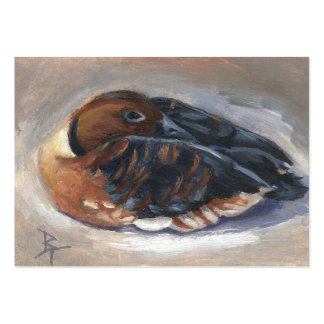 Wandering Whistling Duck aceo Art Card Pack Of Chubby Business Cards