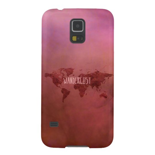 Wanderlust Colourful Vintage World Map Cases For Galaxy S5