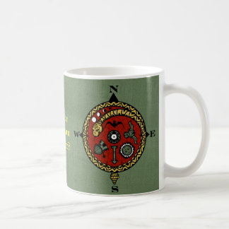 WANDERLUST COMPASS by Slipperywindow Coffee Mug