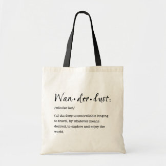 Wanderlust Definition Tote - Black