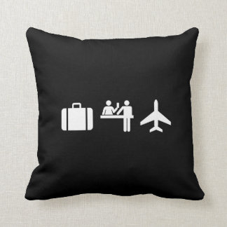Wanderlust Pictogram Throw Pillow