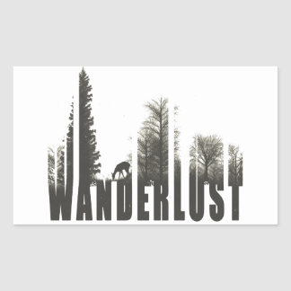 Wanderlust Rectangular Sticker