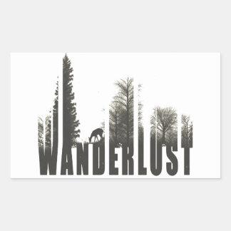 Wanderlust Rectangular Sticker