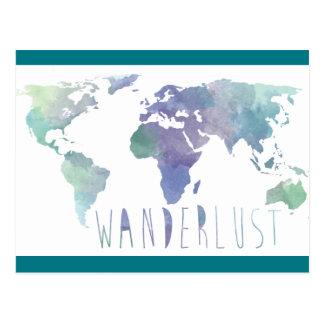 Wanderlust Watercolor Post Card