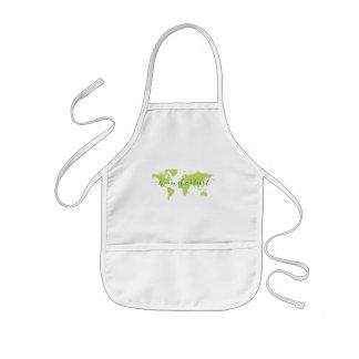 Wanderlust, world map kids apron