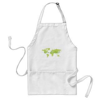 Wanderlust, world map standard apron