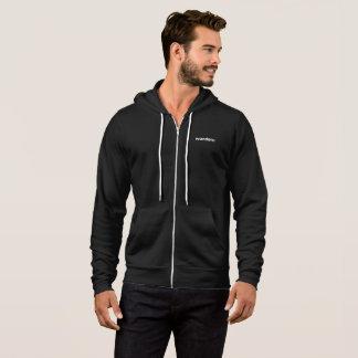 Wanderu grey zip-up hoodie