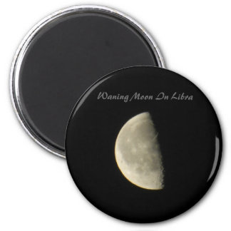 Waning Moon In Libra Refrigerator Magnets