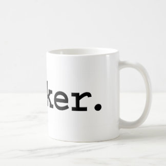 wanker. coffee mug