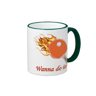 Wanna Do It Flaming Ping Pong Ringer Mug