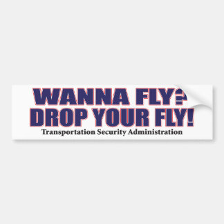 Wanna-Fly Bumper Sticker