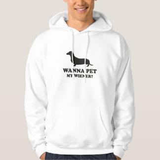Wanna Pet My Wiener? Hoodie