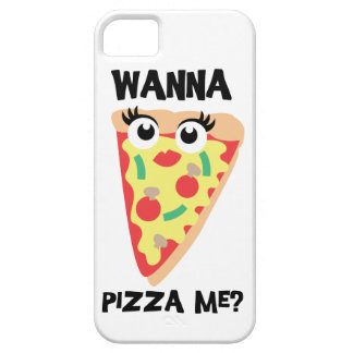 Wanna Pizza Me? Funny Pizza iPhone Case Barely There iPhone 5 Case