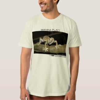 Wanna play-gecko t-shirt