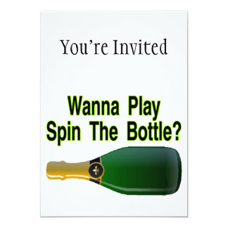 Wanna Play Spin The Bottle 13 Cm X 18 Cm Invitation Card
