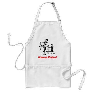Wanna Polka? Oktoberfest T-shirt Standard Apron