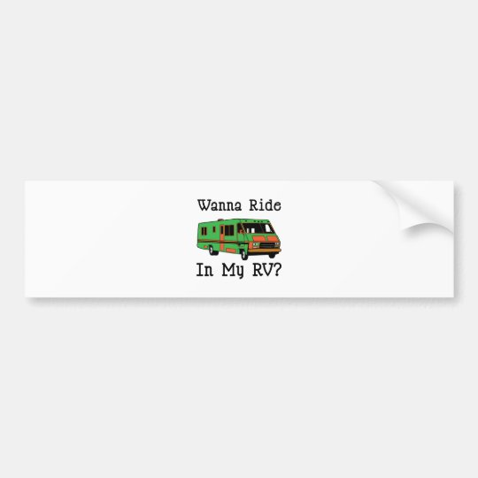 Wanna Ride Bumper Sticker