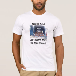 Wanna Ride, Funeral Hearse American Apparel T-Sh T-Shirt