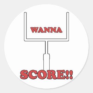 Wanna Score Stickers