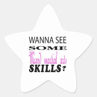 Wanna See Some Mixed martial arts Skill. Star Sticker
