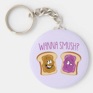Wanna Smush? Key Ring
