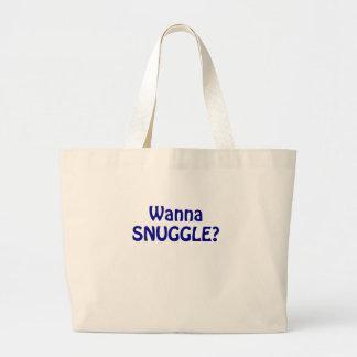 Wanna Snuggle Tote Bag