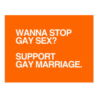 WANNA STOP GAY MARRIAGE POSTCARD