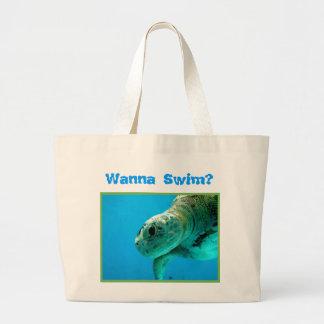 Wanna Swim Beach bag