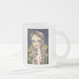 Wannabe Butterfly Frosted Glass Mug