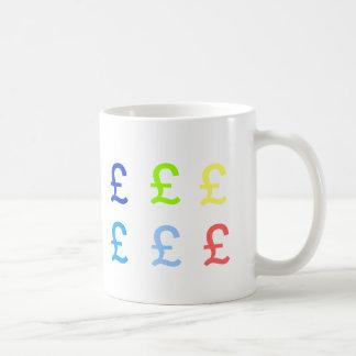 Wannabe Millionaire Pound (£) Cup Basic White Mug