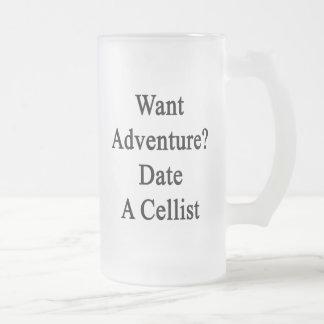 Want Adventure Date A Cellist Glass Beer Mug