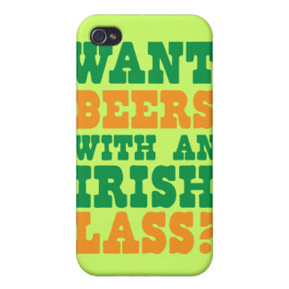 Want beers with an IRISH LASS? St Patricks design iPhone 4/4S Case