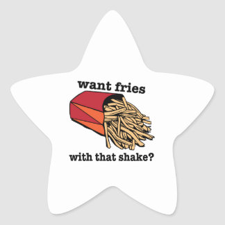 Want Fries? Stickers