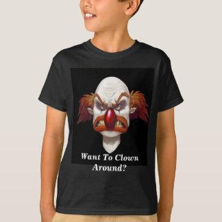 Want To Clown Around?- Designer Kids Basic T-Shirt