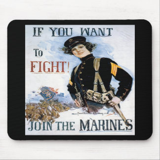 Want To Fight World War 2 Mousepad