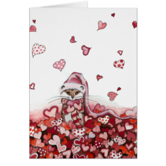 Want to Shower you Love Valentines Card