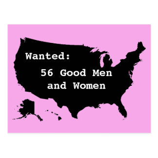 Wanted:  56 Good Men Postcard