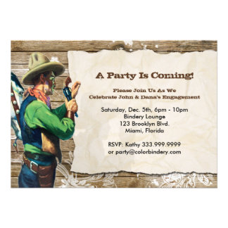 Wanted 7 x 5 inch Event Invitation